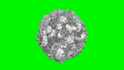 Diamonds orb blast or scatter over green screen Stock Video Footage