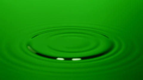 Green water drops Stock Video Footage