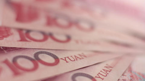 Fan of Chinese Yuan notes Footage