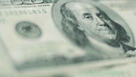 100 dollar bill rack focus Stock Video Footage