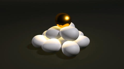egg gold hill dark Stock Video Footage