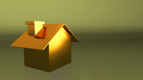 golden house Stock Video Footage
