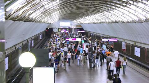 Sadovaya, train arrival, St. Petersburg, Russia Stock Video Footage