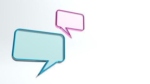 conversation icon left Stock Video Footage