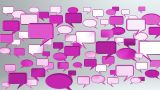 Many Conversation Icons Red stock footage