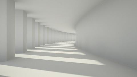 corridor pillar Stock Video Footage
