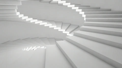 stairs lateral Stock Video Footage