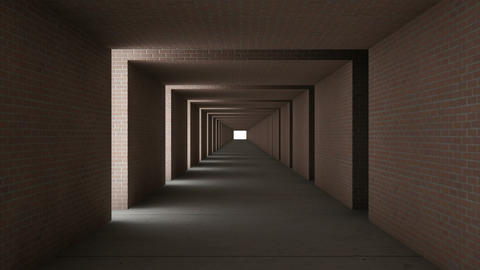 tunnel wall out brick Stock Video Footage