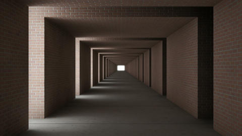 tunnel wall out brick Animation