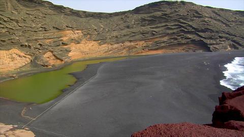 el golfo dead vulcan zoom pan Footage