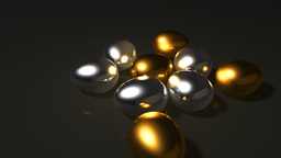 silver and gold eggs Stock Video Footage