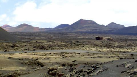 three dead vulcan pan zoom Stock Video Footage