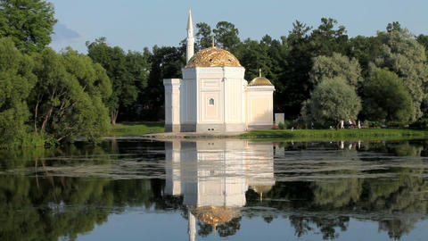 The mosque on the shores of Lake Stock Video Footage