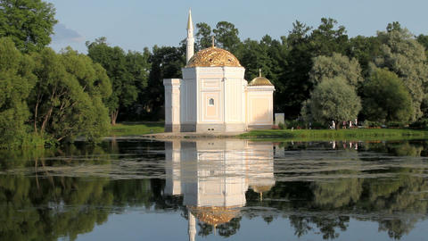The Mosque On The Shores Of Lake stock footage