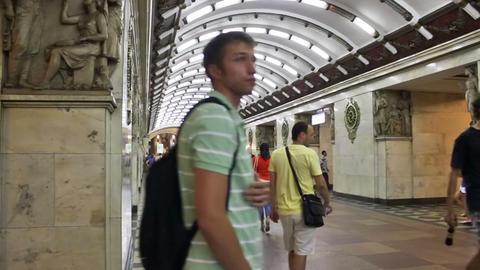 Narvskaya, timelapse, St. Petersburg, Russia Stock Video Footage