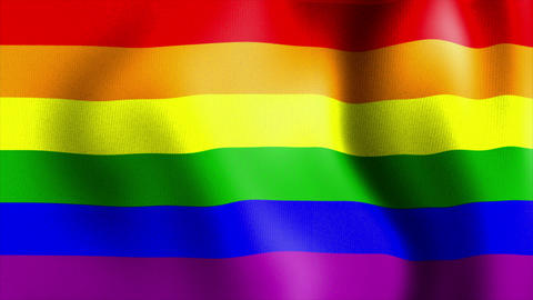 Waving Rainbow Flag stock footage