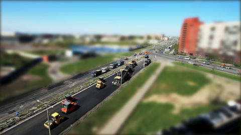 Construction Of Roads In The City stock footage