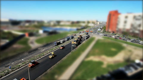Construction of roads in the city Stock Video Footage