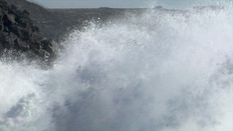 incredible wave crushing audio HD Stock Video Footage
