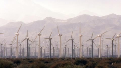 Wind Power 0102 HD-NTSC-PAL Stock Video Footage