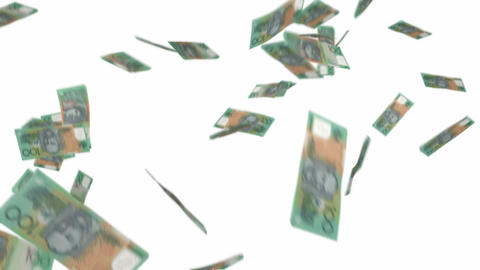 Australian 100 dollar notes Stock Video Footage