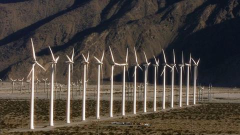 Wind Power 0107 HD-NTSC-PAL Stock Video Footage