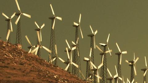 Wind Power 0203 HD-NTSC-PAL Stock Video Footage