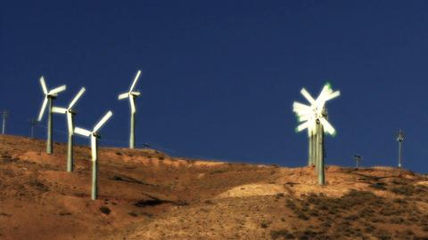 Wind Power 0207 HD-NTSC-PAL Stock Video Footage