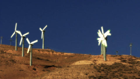 Wind Power 0207 HD-NTSC-PAL Stock Video Footage