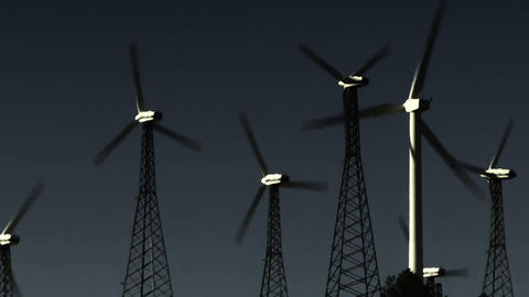 Wind Power 0209 HD-NTSC-PAL Stock Video Footage