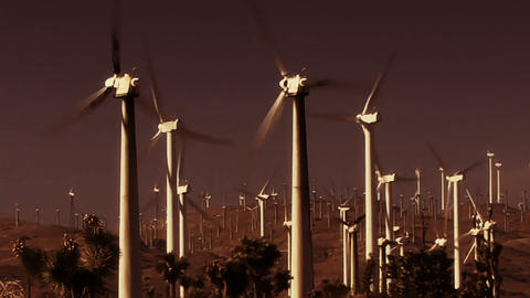 Wind Power 0210 HD-NTSC-PAL Stock Video Footage