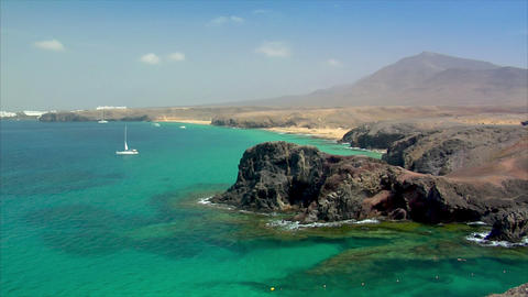 famous papagayo beach Stock Video Footage