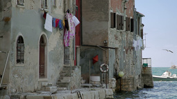 Houses by the sea, Rovinj, Croatia Footage