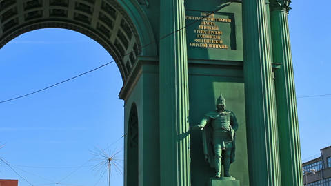 Narva Triumphal Gate, Saint Petersburg Footage