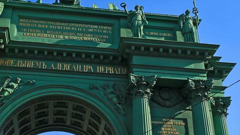 Narva Triumphal Gate, Saint Petersburg Stock Video Footage