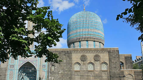Saint Petersburg Mosque, Russia Footage