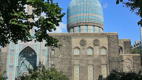 Saint Petersburg Mosque, Russia Stock Video Footage