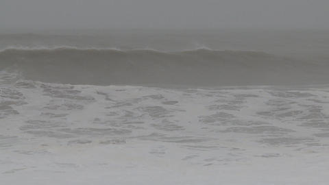 storm sea slow waves Stock Video Footage