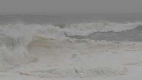storm sea slow waves Footage