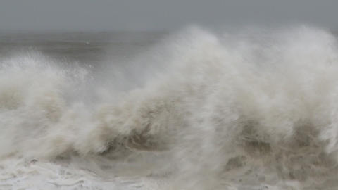 storm sea slow mo 3 Stock Video Footage