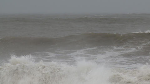 storm sea slow mo 3 Footage