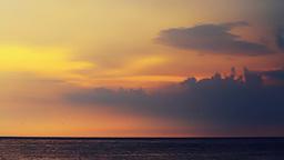 Sunset seascape Stock Video Footage