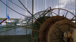 Detail of old fishing boat Stock Video Footage