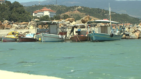 fishing boats Stock Video Footage