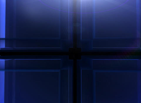 3D Blue Cube Background Stock Video Footage