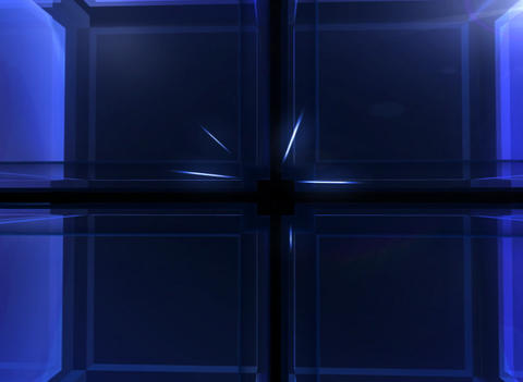 3D Blue Cube Background Animation