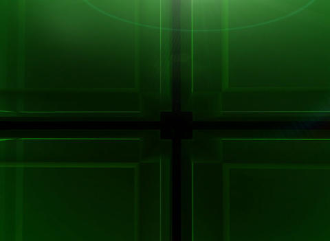 3D Green Cube Background Animation