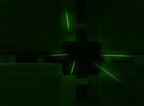 3D Green Cube Background Stock Video Footage