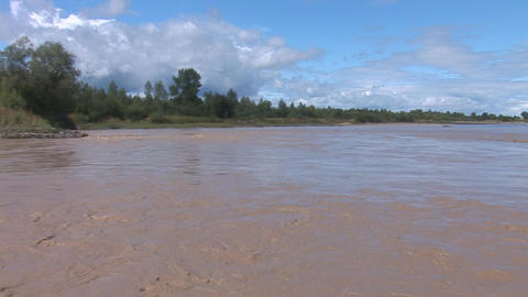 muddy river 1 Stock Video Footage