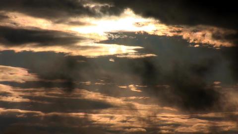 sunset rain 2 Stock Video Footage